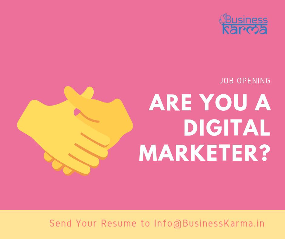 Digital marketing manager opening - Business Karma